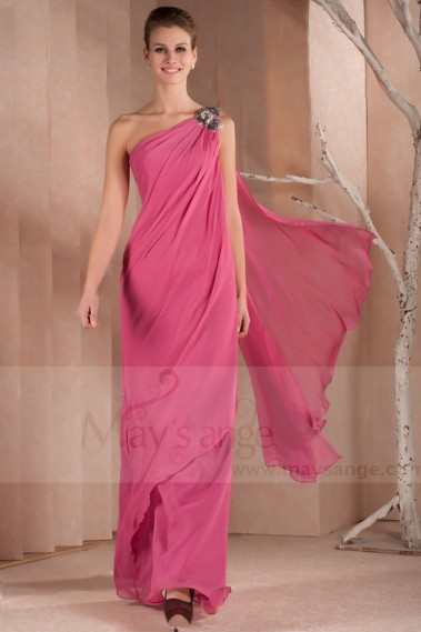 Long Pink Dress With One Shoulder For Your Special Event - L309 #1