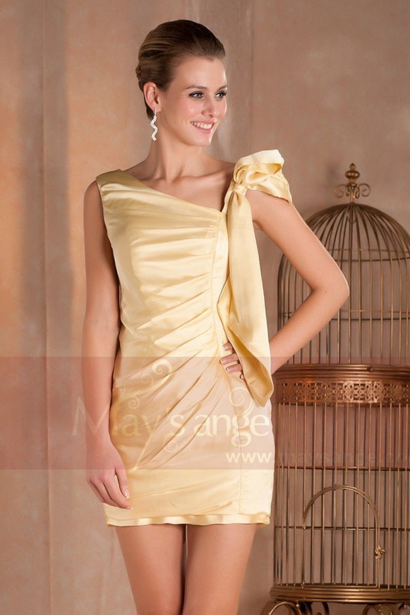 wholesale outlet large discount best online Short Yellow Cocktail Dress | Maysange
