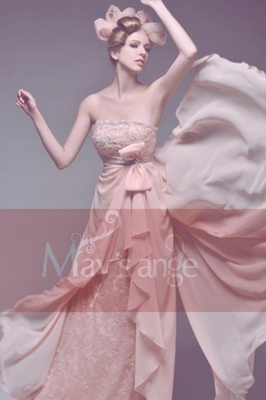 Pink evening dress - Beautiful evening dress Everlasting tenderness for made of honor - L065 #1