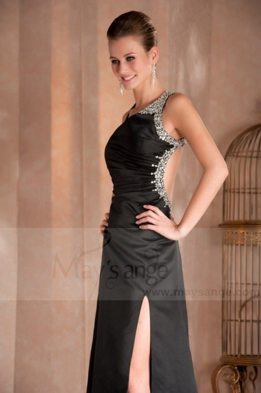 Evening brown dress Irresistible in satin for made of honor - L073 Promo #1