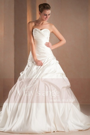 Long wedding dress - Sweetheart Strapless Imperial Wedding Gown - M313 #1