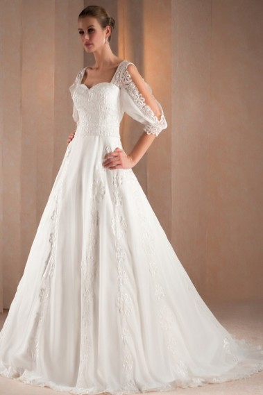 Long wedding dress - Bridal gown Louise - M326 #1