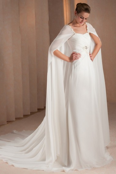 Long wedding dress - Alexandra bridal gown - M332 #1