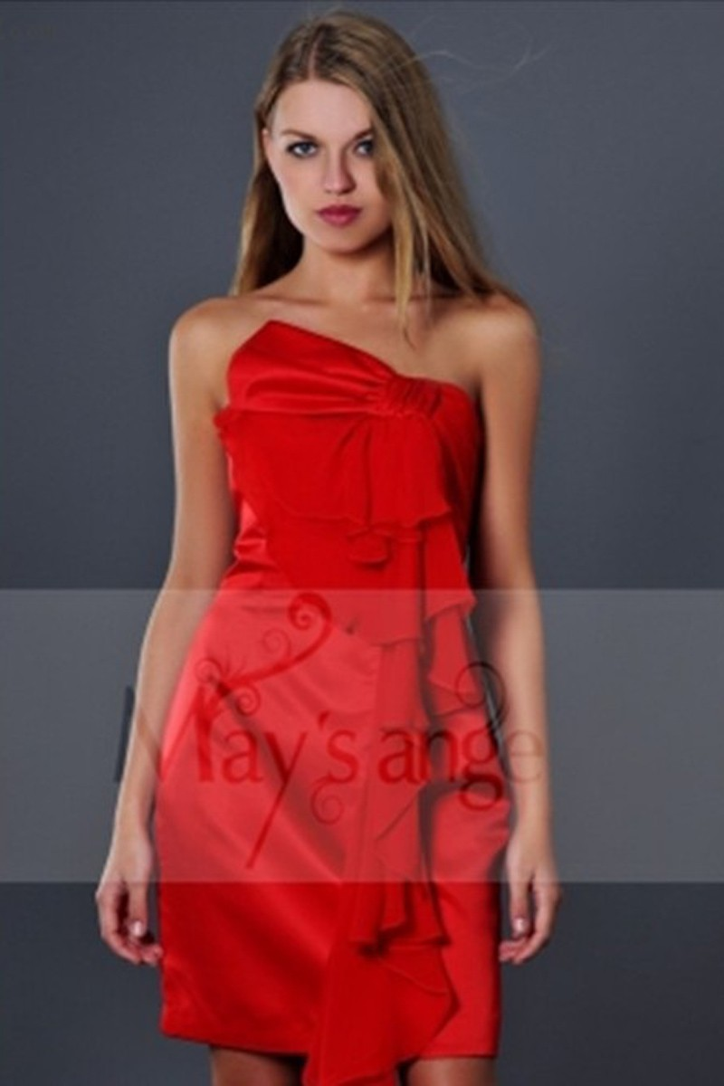 Robes soiree bouton de rose rouge - Ref C141 - 01