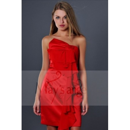 Robes soiree bouton de rose rouge - Ref C141 - 02