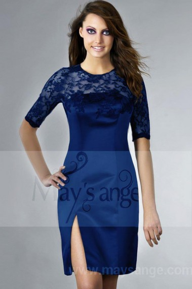 Promotion dress blue lace cocktail sale - C180 Promo #1
