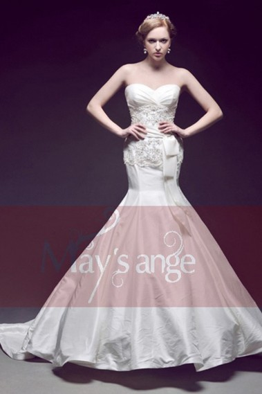 Long wedding dress - Wonderful wedding dress Ariel mermaid style - M001 #1