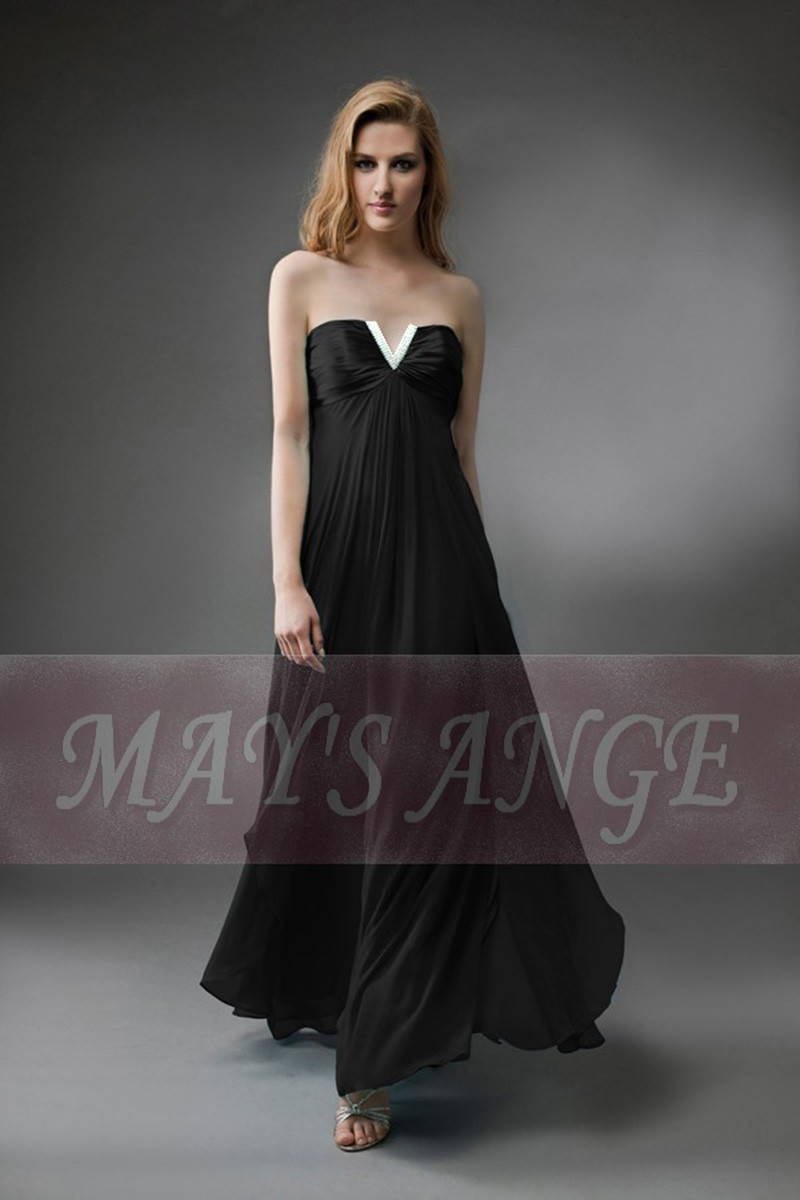 Long and black evening dress Orient - Ref L115 Promo - 01
