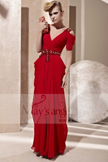 Red evening dress - red evening gowns mad kate PR065 - PR065 #1