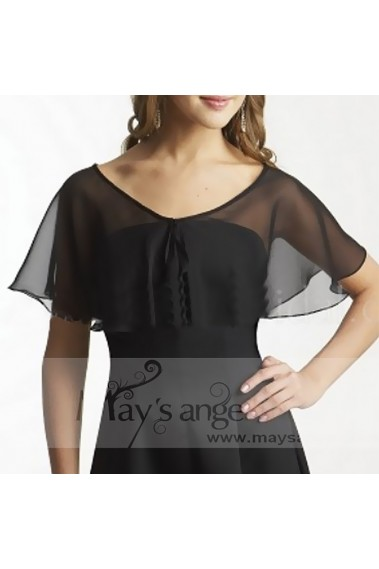 Beautiful Chiffon black evening bolero - BOL028 #1