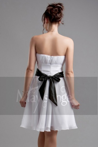 Robe de cocktail bustier - Robe de cocktail blanche Fraîcheur d'antan - C050 #1