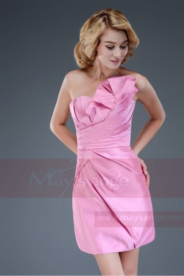 Robe de cocktail rose Bouquet Métallique - C043 #1