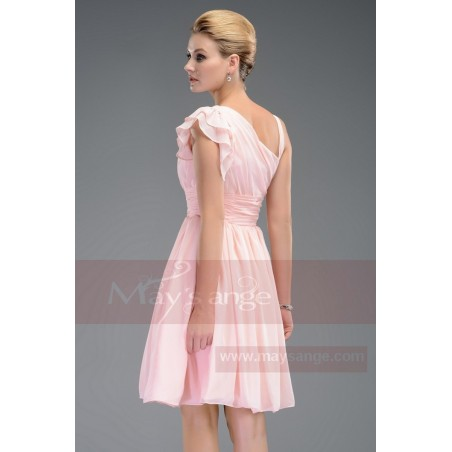 Robe de cocktail   Couleur rose - Ref C463 - 03