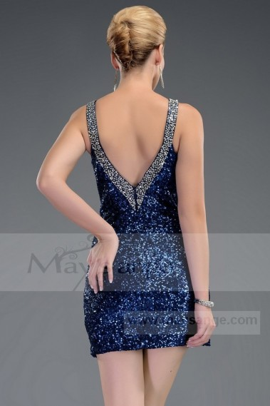 Cheap short dresses - Evening Wear Gemstone Blue C470 - C470 #1