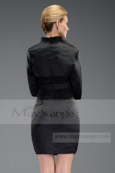 Promotion robe de cocktail C533  noir plus bolero - C533 Promo #1
