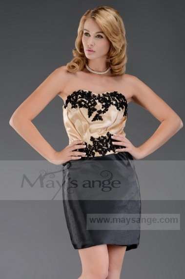 Cocktail Dress Promotion C540 black and gold - C540 Promo #1