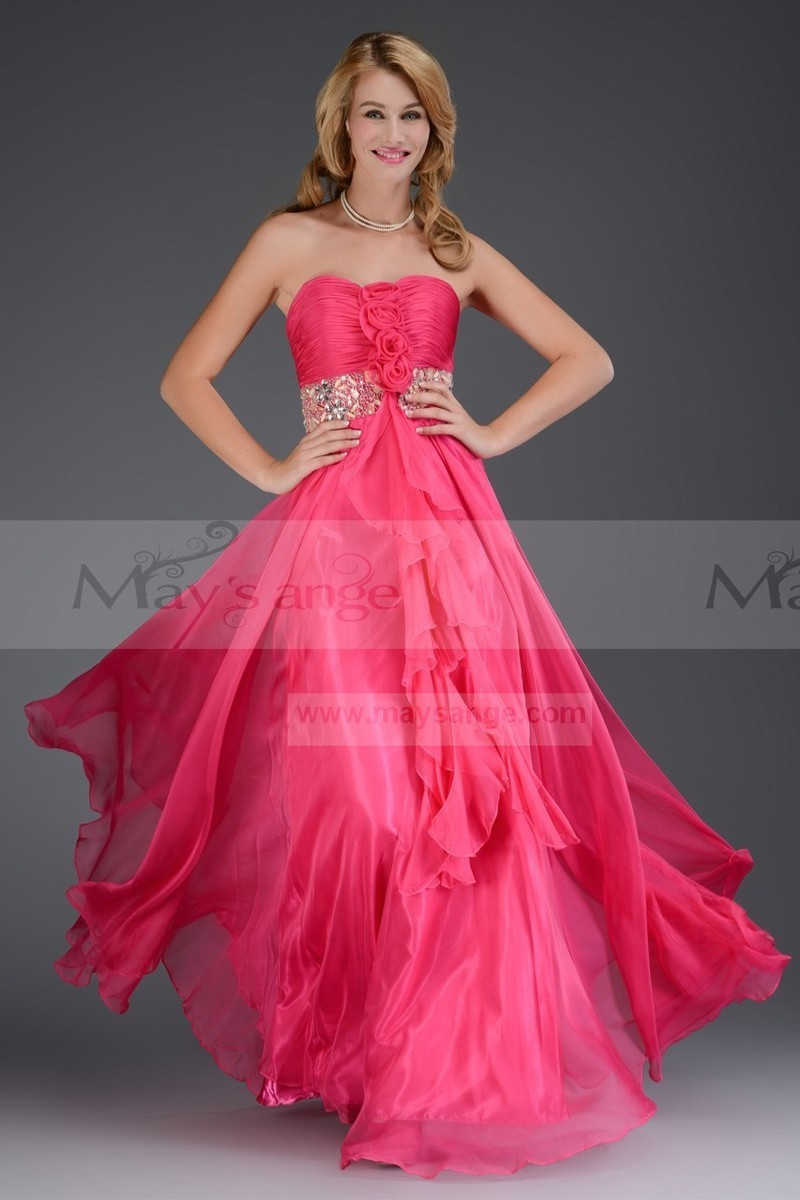 Robe cocktail mariage rose pas cher