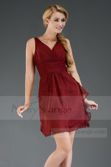 short evening dresses C302 Red Dark Victory - C302 #1