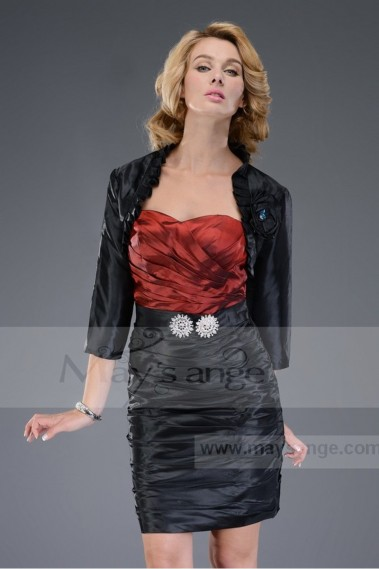 Cocktail Dress C455 black and red with a jacket sale - C455 Promo #1