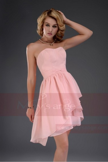 short strapless evening dress nice salmon C459 - C459 #1