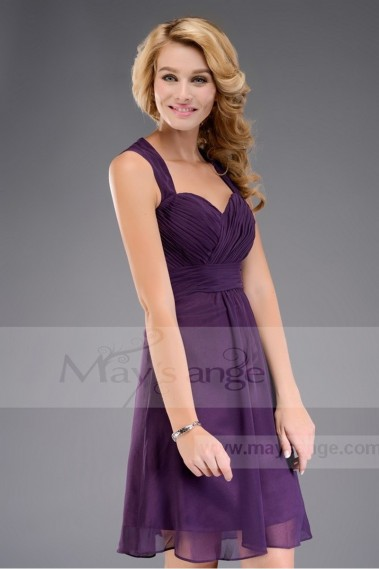 Cocktail Dress Purple C469 closed back - C469 #1