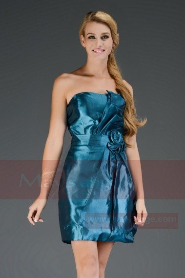 SOLDE robe de cocktail C466 bleu