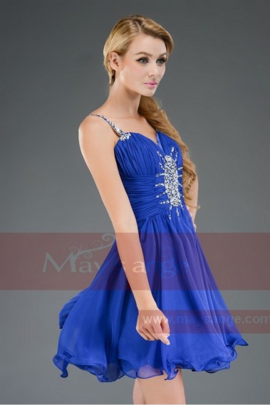 electric blue short dress with straps C530 - C530 #1