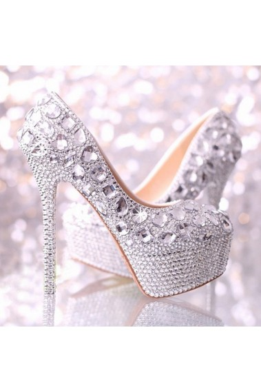 Sparkling Rhinestone Wedding High Heels - CH026 #1