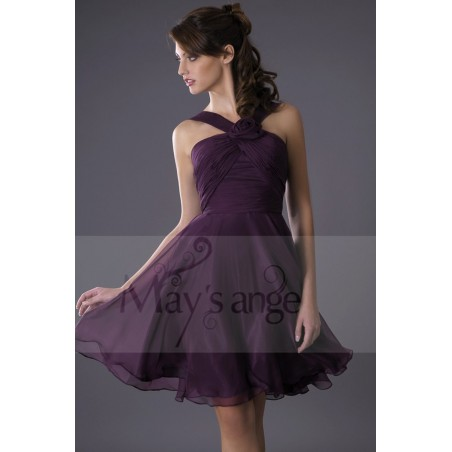 Robe de cocktail Passiflore - Ref C080 - 02