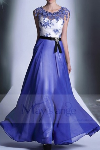 Blue evening dress - L655 - L655 #1