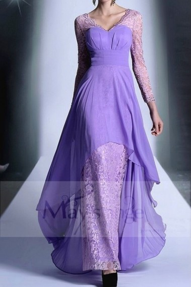 Original Evening Dress - LACE DRESS WITH LONG SLEEVES FOR PROM - L656 #1