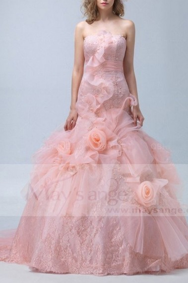 Pink evening dress - Robe de bal p058 - P058 #1