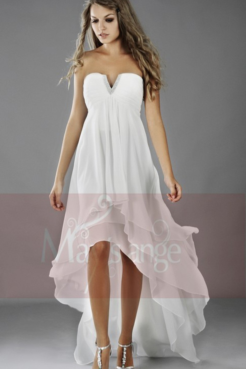 1307ba765a05c Robe de cocktail petite orient blanche - Ref C084 - Robe de cocktail