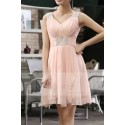 Pink Short Cocktail dress C663 - Ref C663 - 02