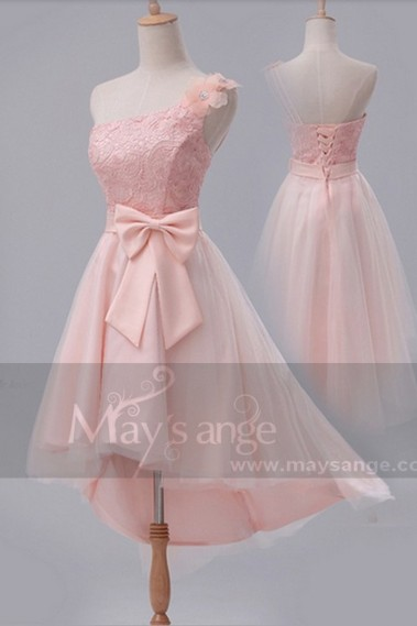 Robe de cocktail  C667  Une touche de rose - C667 #1
