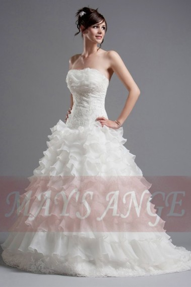 Long wedding dress - Beautiful Wedding dress Christina - M016 #1