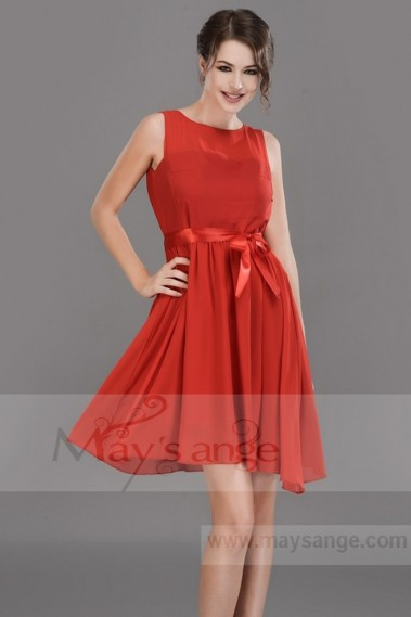 Red bridesmaid dress - C668 - C673 #1