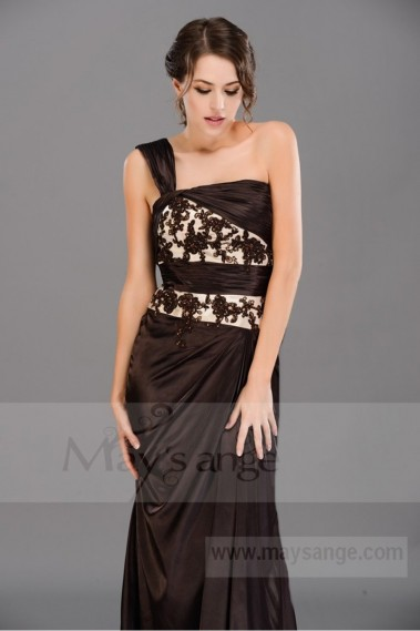 Long One-Shoulder Formal Dress In Satin - L473 #1