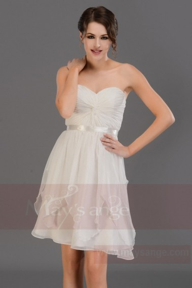 Backless cocktail dress - Short Strapless Chiffon Homecoming Party Dress - C686 #1