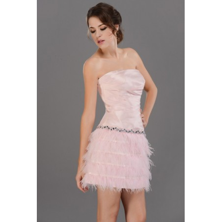 Robe de cocktail  C687  Couleur rose - Ref C687 - 02
