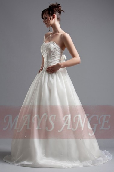 Long wedding dress - Wedding dress Star with lacing on the back - M021 #1