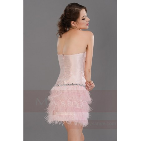 Robe de cocktail  C687  Couleur rose - Ref C687 - 04