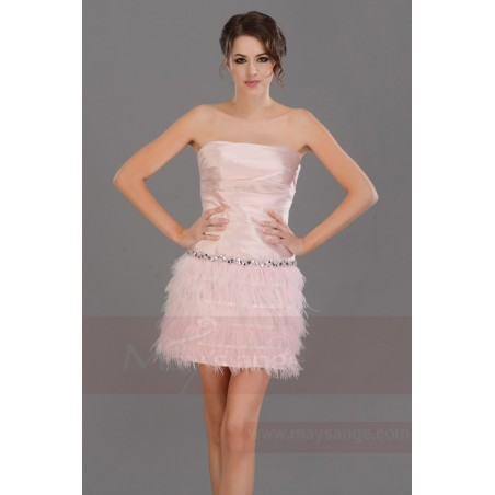 Robe de cocktail  C687  Couleur rose - Ref C687 - 05
