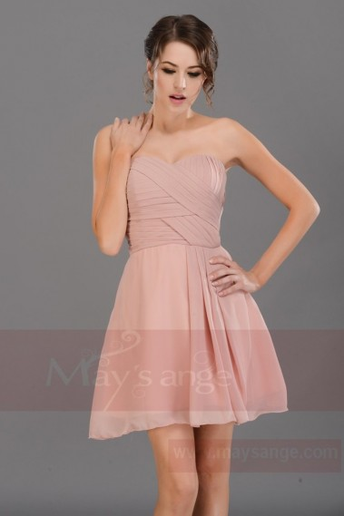 Pink bridesmaid dress - C689 - C689 #1