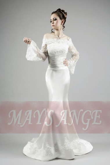 White wedding dress - Mermaid wedding dress cheap and good Taylor - M022 #1
