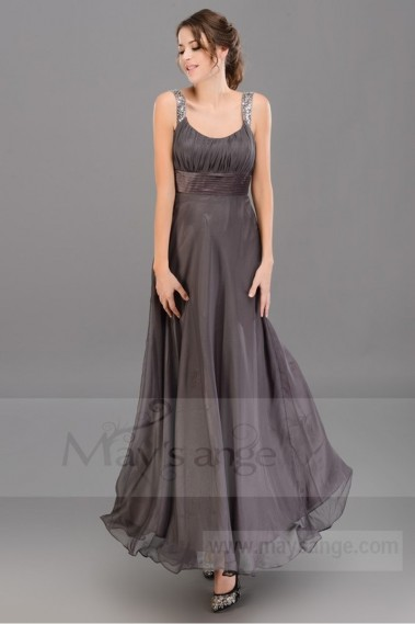 Long brown evening prom dress Glorious for your prom night - L055 #1