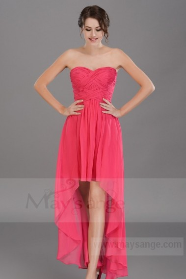 Long cocktail dress - Pink Chiffon Cocktail Dress C669 maze - C669 #1