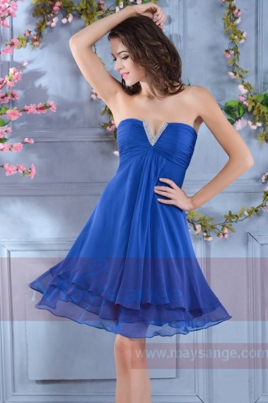 Fluid Evening Dress - Blue Ocean Cocktail Dress C568 - C568 #1