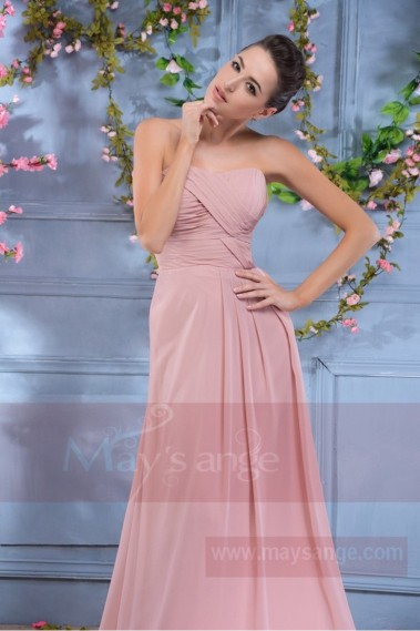 Pink bridesmaid dress - long dress pink powdery evening, Greece Princess - L663 #1