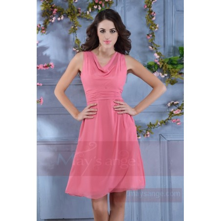Promotion robe de cocktail  C717  Rose - Ref C717 Promo - 02